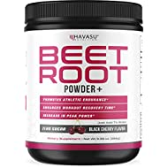 Havasu Nutrition Beet Root Powder with Patented, Organic PeakO2 & Mushroom Blend- Supports Workout Recovery & Promotes Athletic Endurance, No Sugar, Black Cherry Flavor, Net WT 266g (9.38 oz)