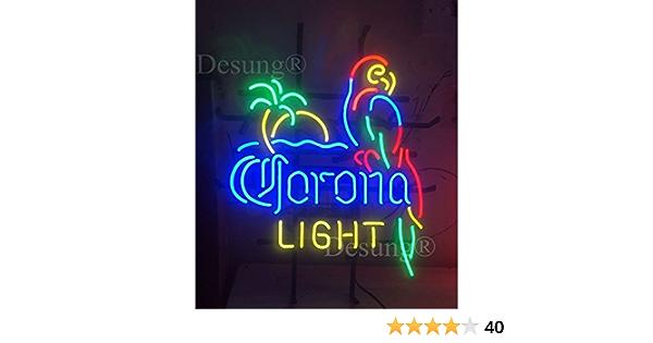 "New Corona Extra Parrot Bird Left Red Neon Sign Beer Bar Pub Gift Light 17/""x14/"""