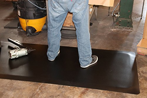Rhino Mats HDT-310RNS Heavy Duty Top Anti-Fatigue Mat with Rhi-No-Slip, 3' Width x 10' Length x 1/2'' Thickness, Black by Rhino Mats (Image #3)