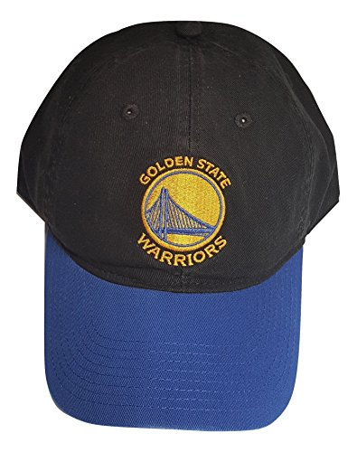 (adidas NBA Golden State Warriors Adult Snap Back Slouch Adjustable Cap Adult, One Size Fits All, Black)