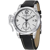 Graham 1695 Automatic Chronograph Black Leather Men's Watch