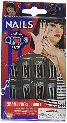 Forum Novelties 61803 Convict Cutie Fancy Nails