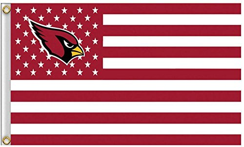 Five Star Flags New Arizona Cardinals Flag, Cardinals Flag, Flag for Indoor or Outdoor Use, 100% Polyester, 3 x 5 Feet. ()
