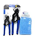 Kobalt 2 Piece 8 and 10 Inch Self Adjusting Pliers Set and Tesadorz Microfiber Towel