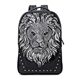 Cheap Seamand Personalized 3D Lion PU Leather Casual Laptop Backpack School Bag