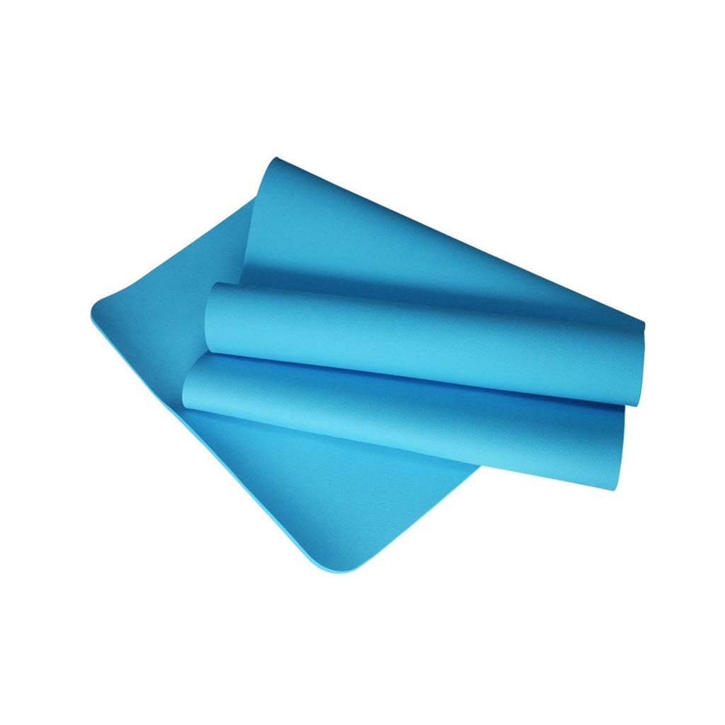 blueee TPE Yoga Mat Environmental Predection NonSlip Rebound Fast Sports Fitness Mat 6 Mm Multicolor Optional