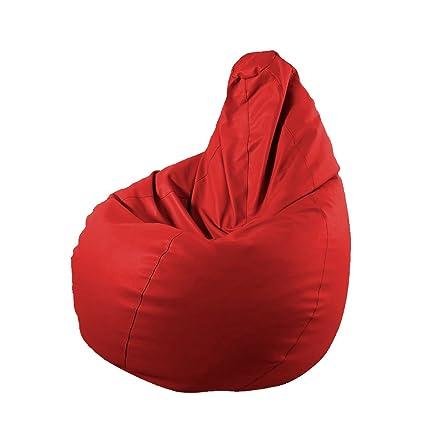 puff de pera xl 130x80x80 color rojo - Puf Pera