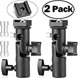 Updated Version Flash Bracket- ChromLives Light Stand Flash Mount Hot Shoe Flash Stand Photography Camera Umbrella Holder Bracket E Type for DSLR Camera Canon Nikon Pentax Olympus Nissin Metz and DSLR