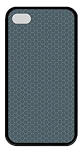 iPhone 4 4s Case, iPhone 4 4s Cases - Simple honeycomb TPU Polycarbonate Hard Case Back Cover for iPhone 4 4sšCBlack