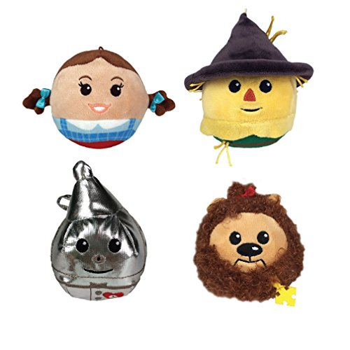 Auntie Em Costumes (Wizard of Oz Fluffball Ornament 4 Pack - Dorothy, Scarecrow, Cowardly Lion and Tin Man)