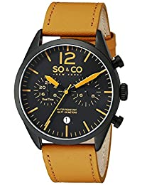 SO & CO New York Men's 5028.3 Monticello Analog Display Quartz Brown Watch