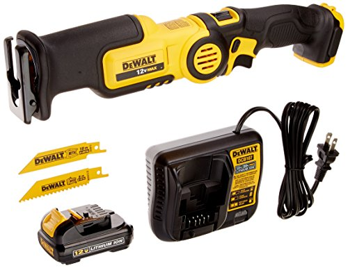 Dewalt Recip Saw - DEWALT DCS310S1 12-Volt MAX Pivot Reciprocating Saw Kit