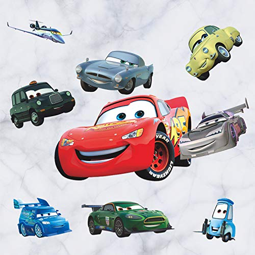 GADFLY Children, Kids, Baby, Nursery's Peal and Stick Wall Decals Stickers (Pixar Cars Piston Cup Champs) -