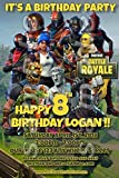 Fortnite 4x6 printed birthday party invitations with envelopes #1