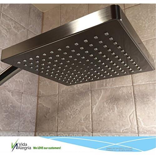 low-cost Vida Alegría Spashower RAIN 8-Inch Square Soft Rain 2.5 GPM Shower Head (Oil Rubbed Bronze)