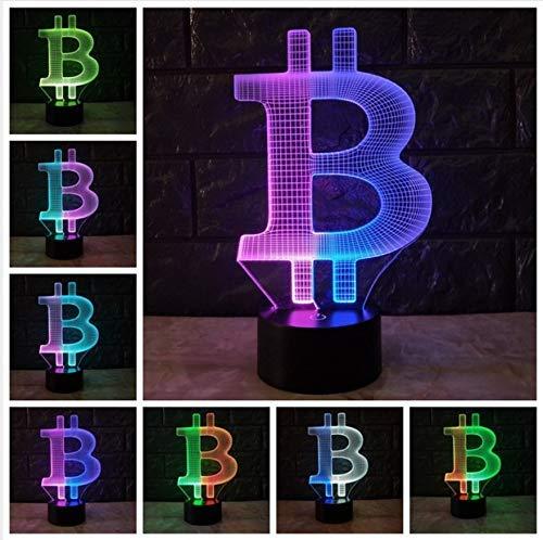 JINSH 3D Acryl Nachtlicht 3D Lampe Stimmung Nachtlicht LED-Beleuchtung USB-Touch-Standfuß Tisch Schreibtischöneben Dekorativ
