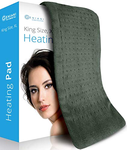 - XL Heating Pad - Electric Heating Pad for Moist and Dry Heat Therapy - Fast Neck/Shoulder/Back Pain Relief at Home - 12