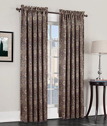 (Sun Zero Celestia Geometric Print Energy Efficient Grommet Curtain Panel, 54