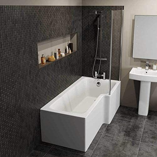 Other Panel de ducha de cristal acrílico con forma de L para ...