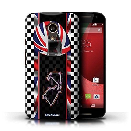 Coque de Stuff4 / Coque pour Motorola Moto G (2014) / UK/Silverstone Design / F1 Piste Drapeau Collection