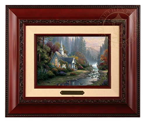 Thomas Kinkade The Forest Chapel Brushwork (Brandy Frame)