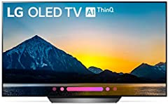 The sleek B8 is designed to elevate a room's aesthetics while complementing any décor. This new LG OLED TV with AI (Artificial Intelligence) ThinQ has the Google Assistant built in, so it becomes the center for the smart home. Using Intellige...