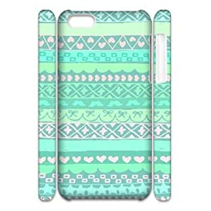 MMZ DIY PHONE CASEGreen Tribal Pattern 3D-Printed ZLB557020 Customized 3D Phone Case for ipod touch 4