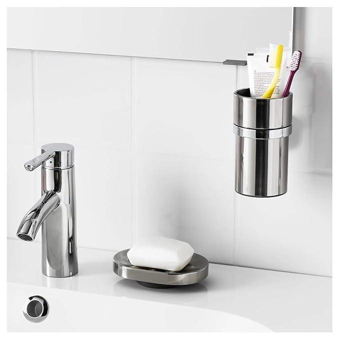 IKEA KALKGRUND dispensador de jabón líquido soporte, cromado: Amazon.es: Hogar