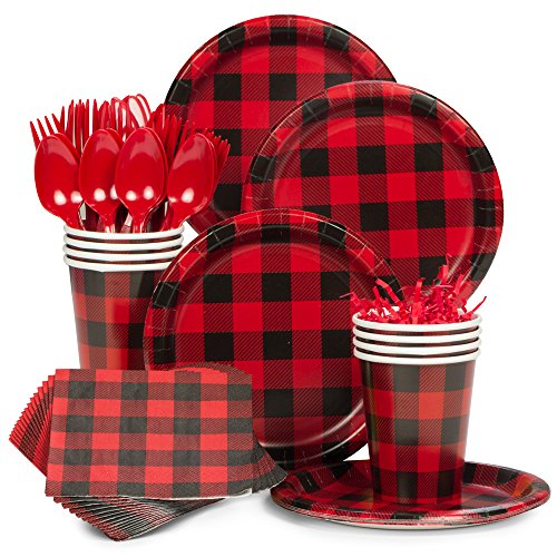 Costume SuperCenter Buffalo Plaid Standard Tableware Kit (Serves 8) ()