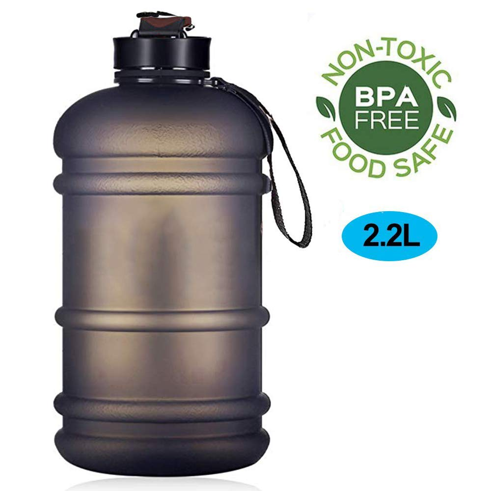 ENINE Water Jug 2.2L Large Sport Water Bottle Big Capacity Leakproof Giant Container BPA Free Plastic with Carrying Loop Fitness for Camping Training Bicycle Hiking Gym Athletic Outdoor