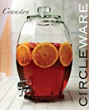 Circleware Cranston Huge Glass Beverage Drink Dispenser, 3 gallon, Clear