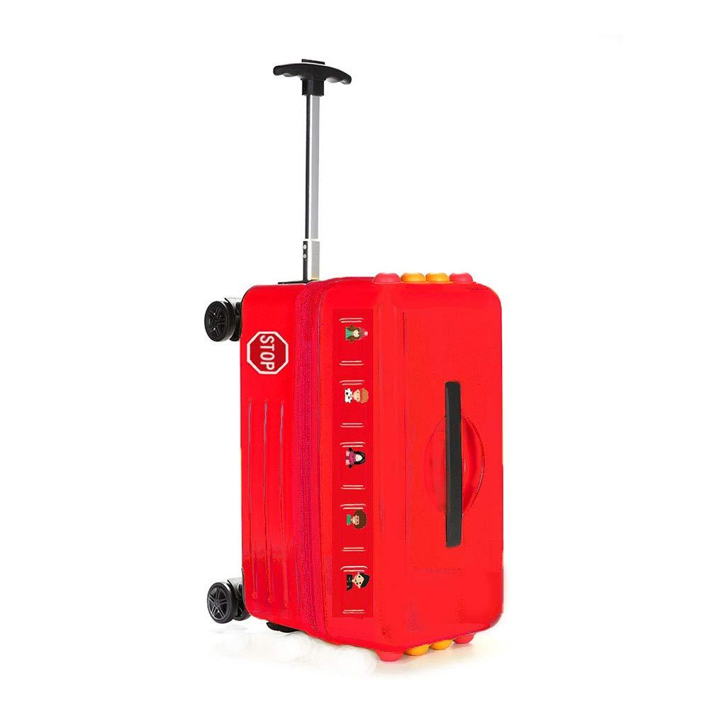 キッズスケートボードローリング荷物20インチ子供スピナートラベルトロリーケースかわいい赤ちゃんは、スーツケースを持ち歩く  Red B07LDBN523