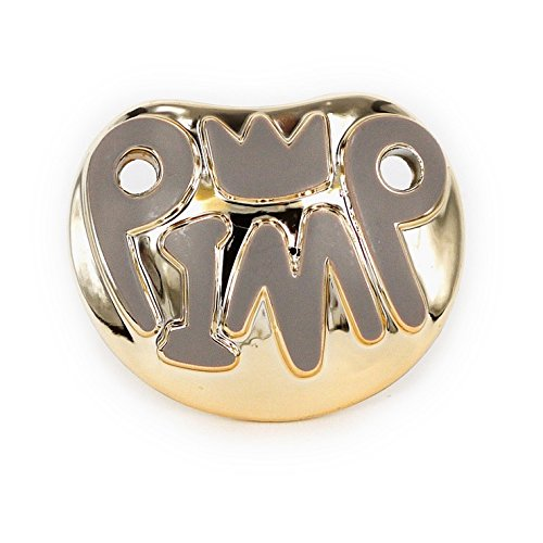 Toddler Pimp Halloween Costumes (Billy Bob Teeth, Inc. Mens Baby Pimp Pacifier One Size Fits Most Gold)