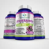The Best Pure Tran-Resveratrol on Amazon by Supreme Potential ® 1500mg::180 Capsules::60 Day Supply.