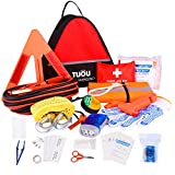 TUOU Auto Emergency Kit Frist Aid Kit for Cars and Trucks,All-in-One...