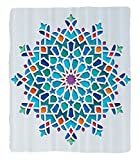 Chaoran 1 Fleece Blanket on Amazon Super Silky Soft All Season Super Plush Arabian Decor etIllustration of Old Islamic Arabesque Ethnic Antique Oriental Damask Round Motif Art Work Accessories