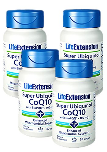 Life Extension Super Ubiquinol CoQ10 with BioPQQ, 30 Softgels 100mg - Discount 4-Pak by Life Extension