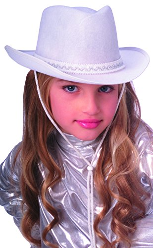 Rubie's Costume Child's Dura-Shape Deluxe White Cowboy Hat]()