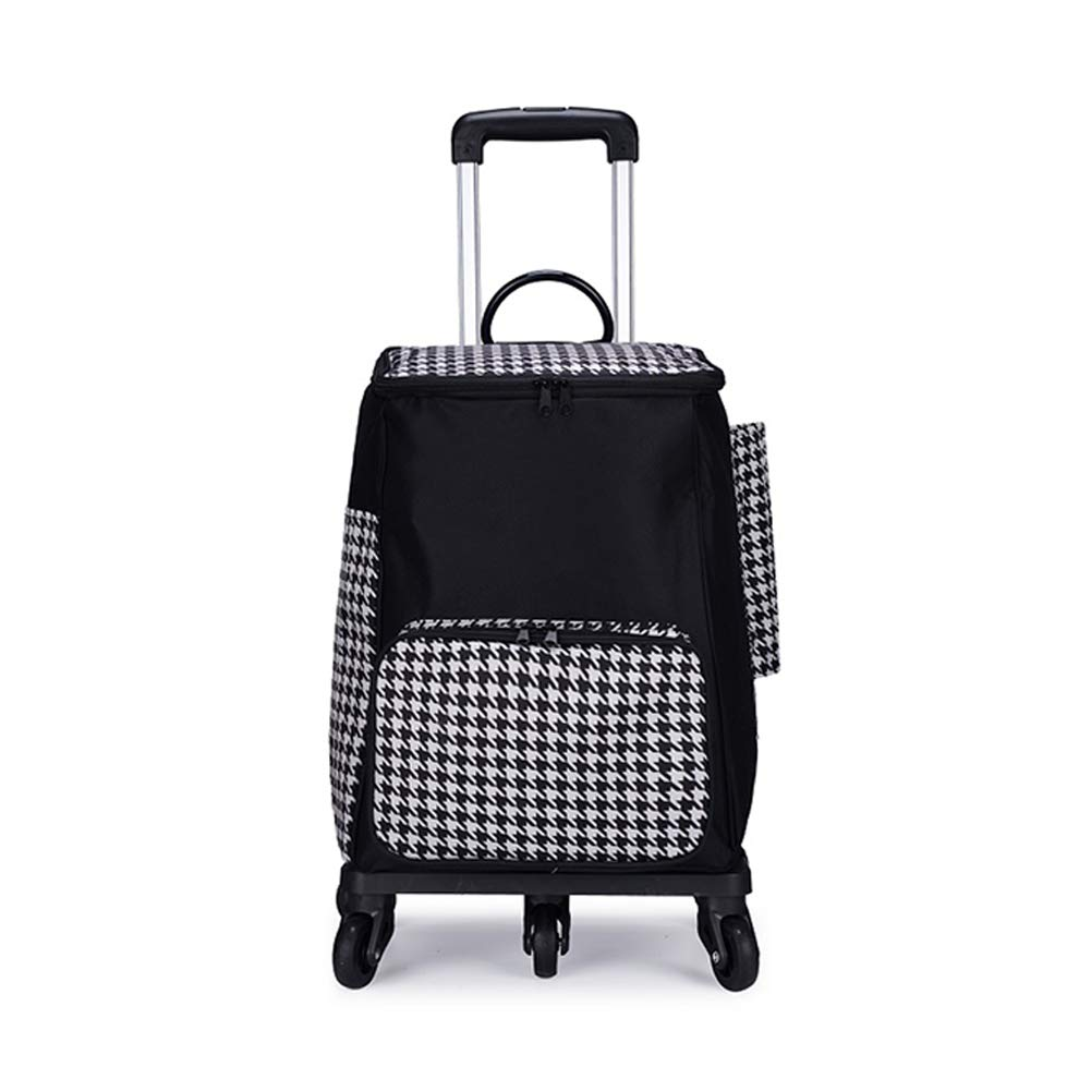 Trolley Folding Shopping Cart - Portable Luggage Car Waterproof, Large Capacity, Flexible and Beautiful, 5 Wheels, Suitable for Shopping, Luggage, Etc, Packaging: 1. by Trolley