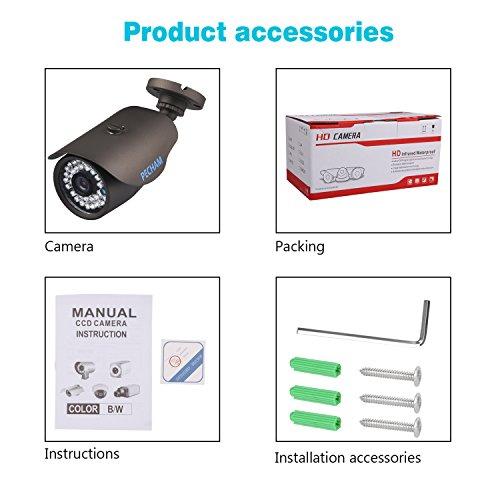 PECHAM-HD-1200TVL-Bullet-Surveillance-CCTV-Camera-36mm-Lens-High-Resolution-36-Infrared-LEDs-IR-Cut-120ft-IR-Night-Vision-Distance-Weatherproof-Outdoor-Security-Camera-Aluminum-Alloy-Housing