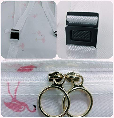 Blanc Dos Organiseurs Chaussures nbsp;pcs nbsp;cubes k233 Sac 6 Bagages Mh6046 Pour Avec À D'emballage Ensemble Flamingo De Toddewss Voyage On Carry 6AxwUnEPqx