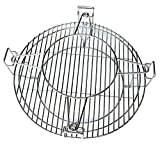Hongso Stainless Steel SUS304 Flexible Cooking Rack for Char-Griller Large Big Ggreen Egg, Kamado Joe Classic and Other 18.5' Ceramic Grills, Including 2 Half Moon Grates and Accessory Rack, SCS180