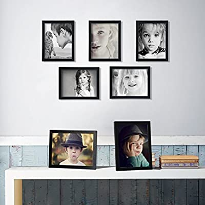 Giftgarden Picture Photo Document Frames Set Compatible with Wall Tabletop, Black