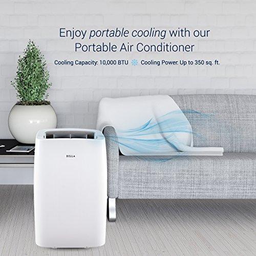 DELLA 10,000 Air Conditioner Fan Dehumidifier Rooms Up 350 Sq. Ft. Control,