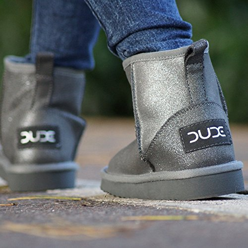 amp; Grey Dude Ash Women's Boot Ladies Sella Silver Suede Lame Shoes n7F8qBazn