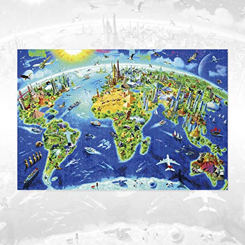 Jigsaw Puzzles 1000 Pieces for Adults,YALANLE Wooden Puzzle with a Large Poster Animal Style Ideal for Relaxation Meditation Hobby Suit for Age 8+