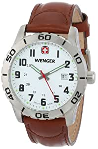 Wenger Men's 741.101 Stainless Steel Watch with Leather Band