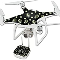 Skin For DJI Phantom 4 Quadcopter Drone – Nighttime Skulls | MightySkins Protective, Durable, and Unique Vinyl Decal wrap cover | Easy To Apply, Remove, and Change Styles | Made in the USA