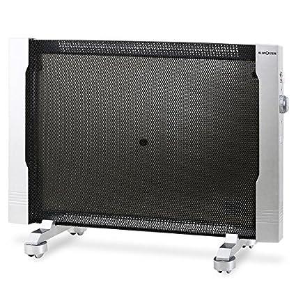 Klarstein HT002MC Radiador de ondas calientes de bajo consumo (2500W, transportable con ruedas, 2 niveles de funcionamiento, montaje pared, ideal espacios ...