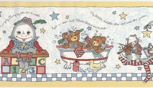 - Kids Line NURSERY Time WALL PAPER BORDER 10 Yards Long x 8
